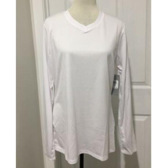 cf40a770c11470 ASICS Tops | New Womens Shirt Xl Vneck Long Sleeve | Poshmark